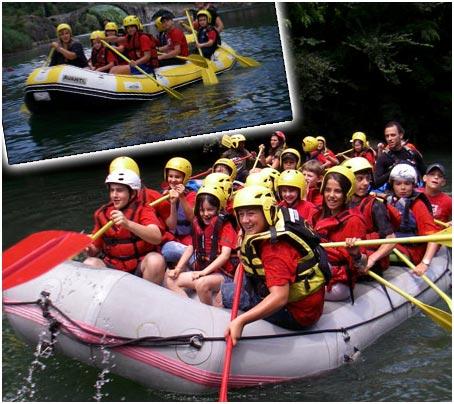 rafting scuola